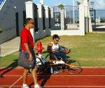 Anjali with program coordinator at WindReach and Bermuda National Olympic Coach